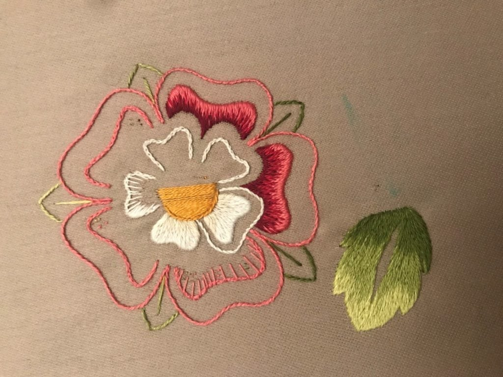 tudor rose being made by an rsn student