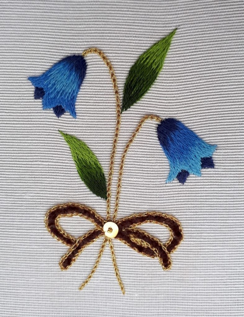 silk shading course at the Royal school of needlework