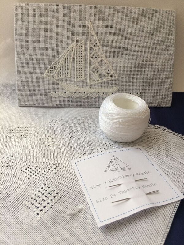 detailed sailing boat white work made at the rsn