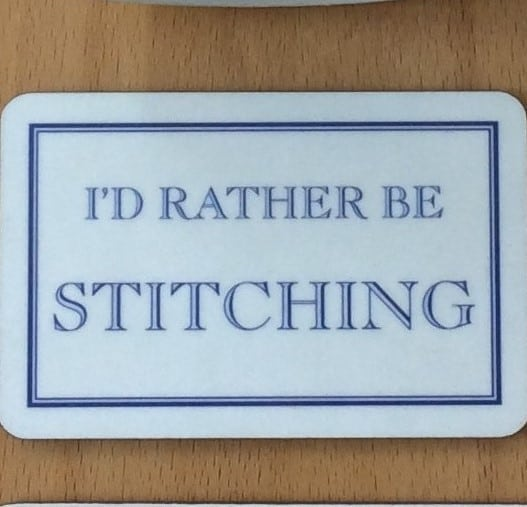 I'D RATHER BE STITCHING Magnet