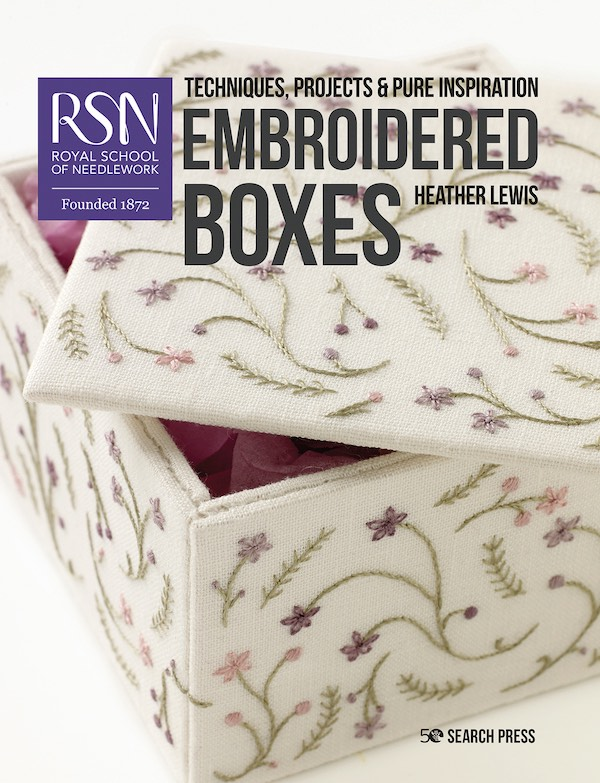 RSN Embroidered Boxes book by Heather Lewis